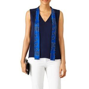 Diane von Furstenberg Silk Britini Tie-Top